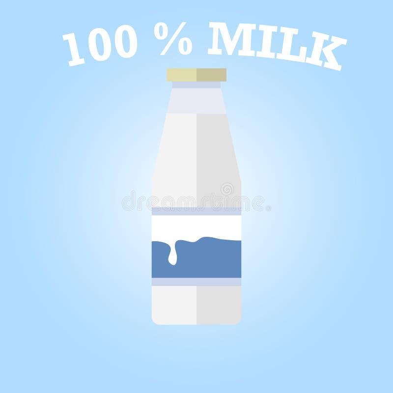 Bottiglia di latte illustrazione di stock