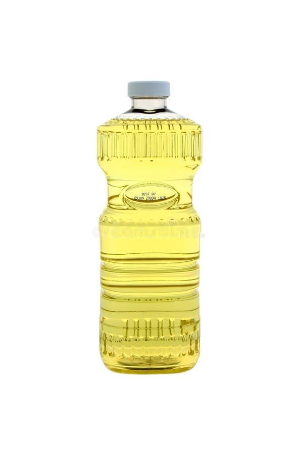 Bottiglia di olio da cucina fotografia stock
