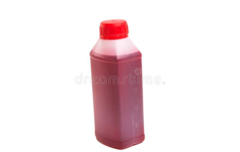 bottiglia di olio a macchina isolata fotografia stock libera da diritti