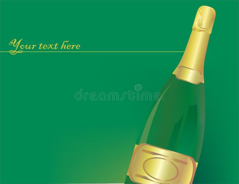Bottiglia di pieno di bolle illustrazione di stock