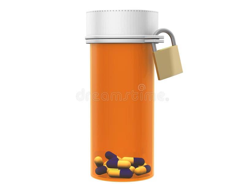 Bottiglia di pillola illustrazione di stock