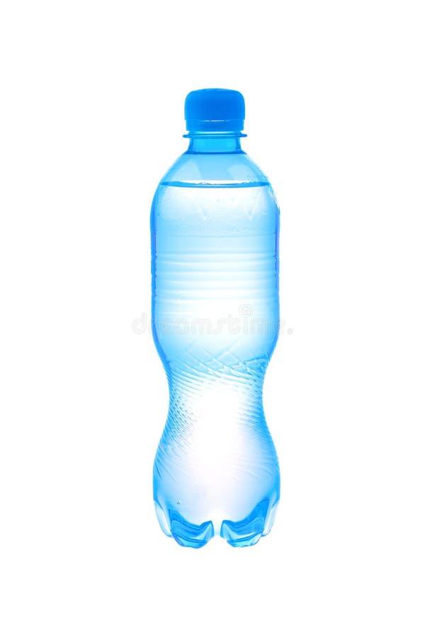 Bottiglia di plastica con acqua immagini stock