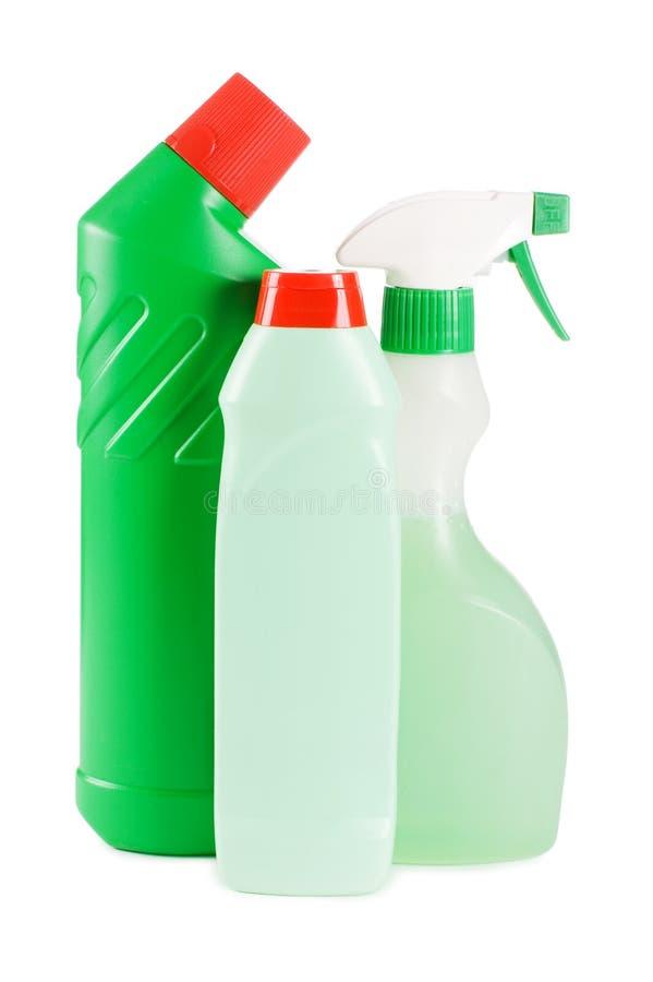 Bottiglia di plastica con il detersivo fotografia stock libera da diritti