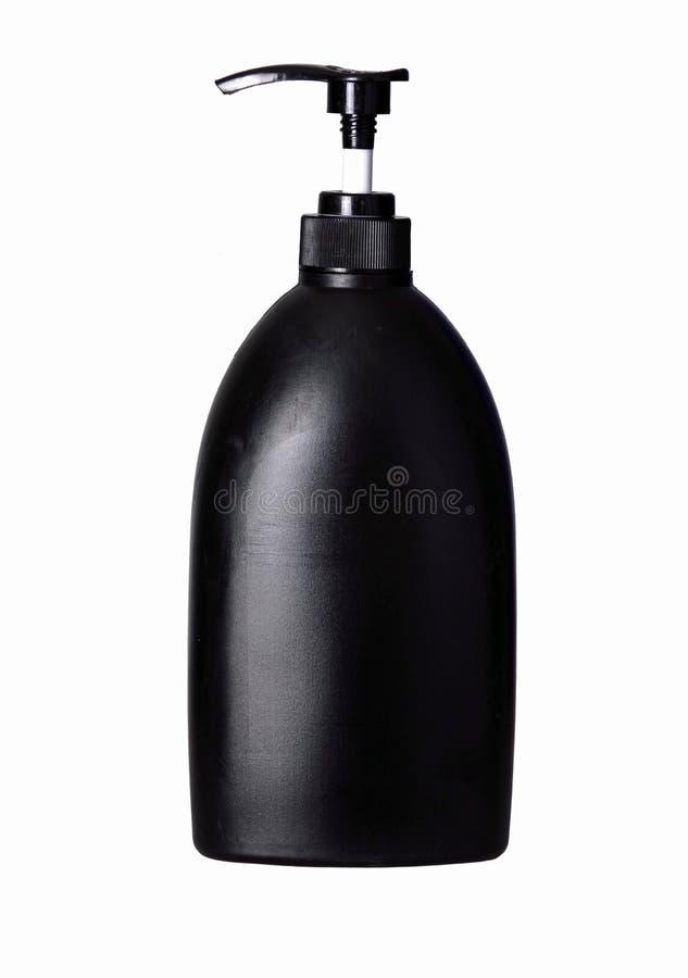 bottiglia di plastica con il liquido di lavaggio immagini stock