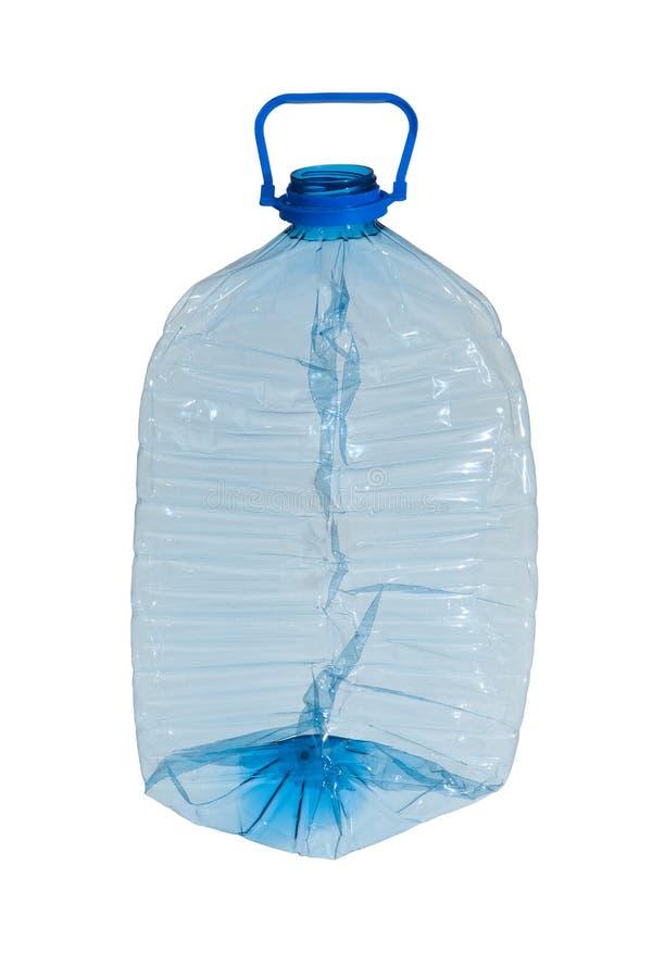 Bottiglia di plastica schiacciata fotografia stock libera da diritti
