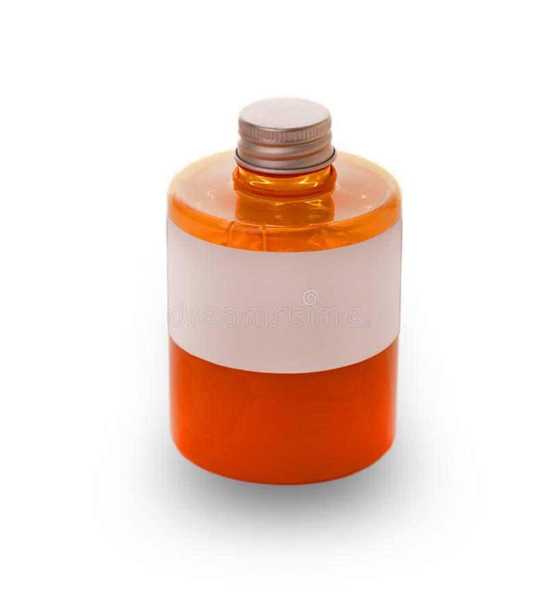Bottiglia di sapone liquido e chiuso il coperchio immagine stock libera da diritti