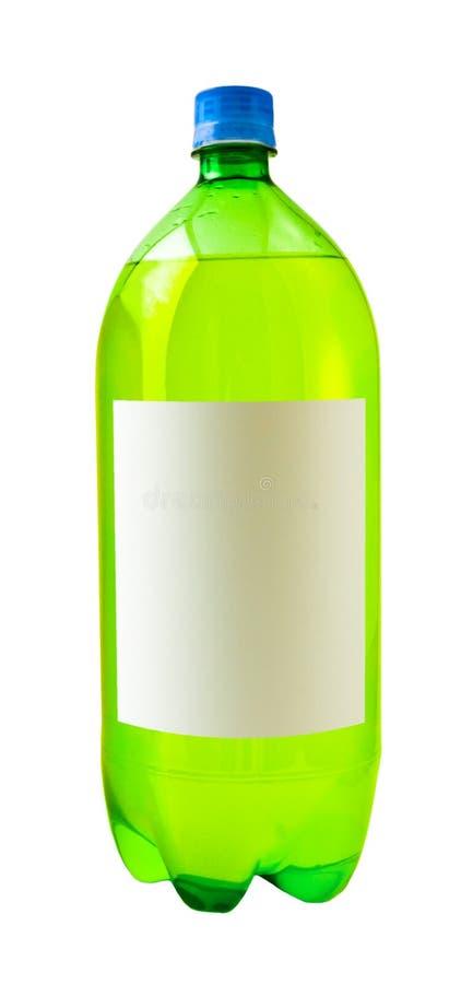 Bottiglia di soda verde immagine stock libera da diritti