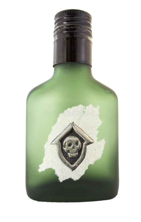 Bottiglia di veleno fotografia stock