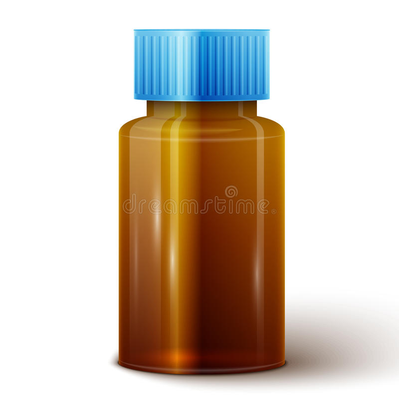 Bottiglia di vetro della medicina royalty illustrazione gratis