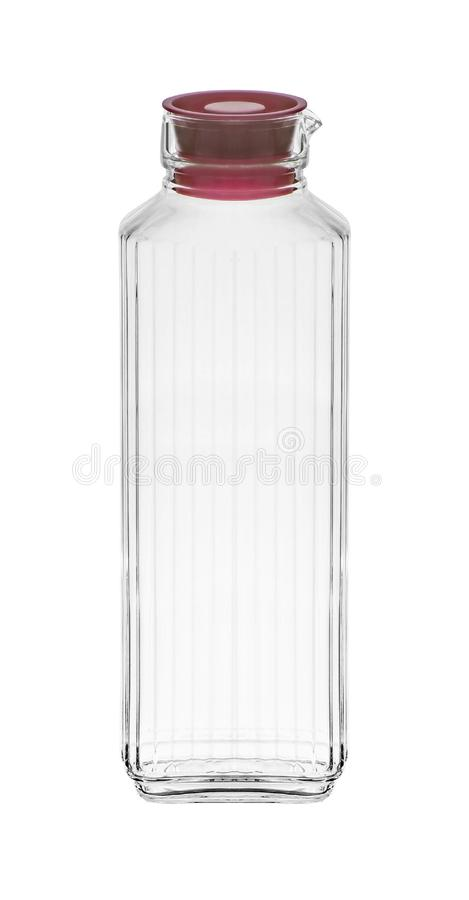Bottiglia di vetro isolata su bianco immagini stock