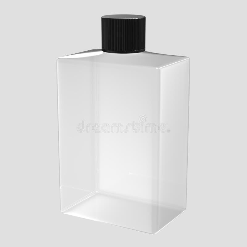 Bottiglia di vetro quadrata fotografie stock libere da diritti
