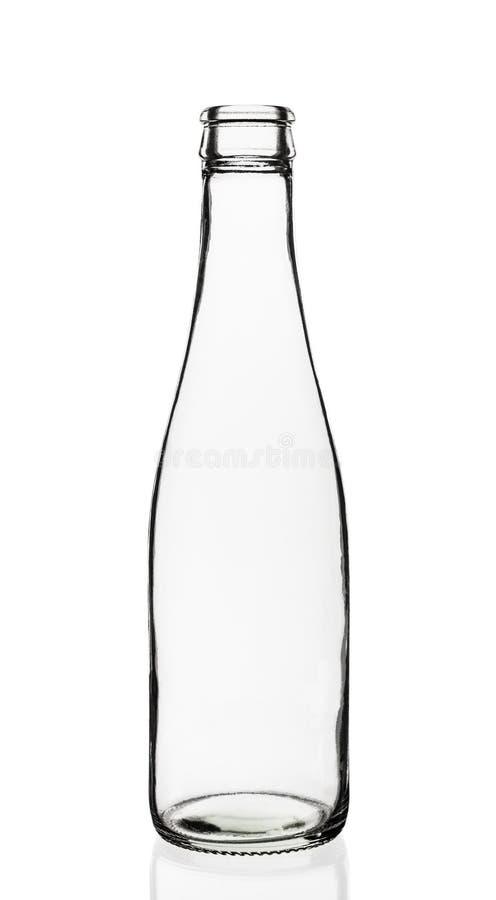 Bottiglia di vetro vuota fotografie stock libere da diritti