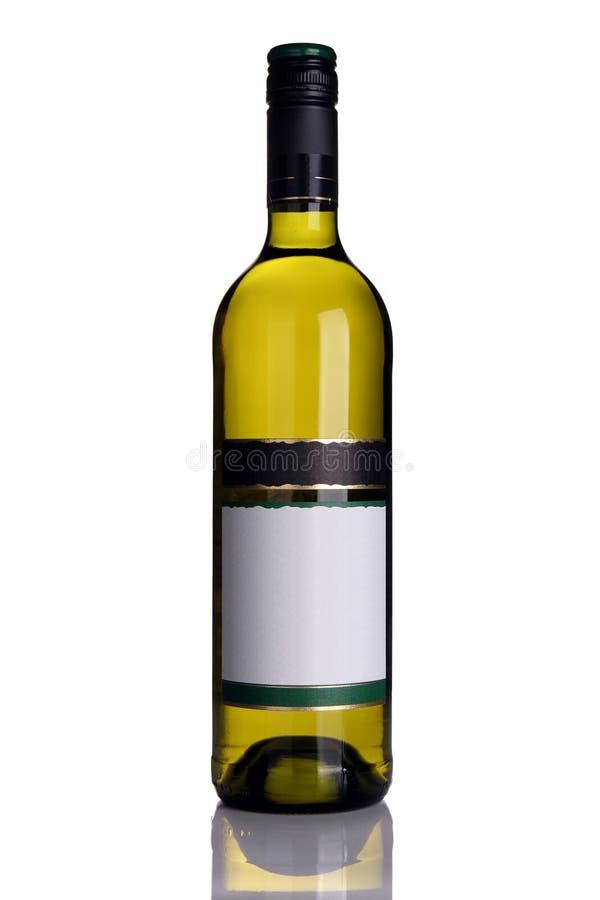 Bottiglia di vino bianco fotografia stock libera da diritti