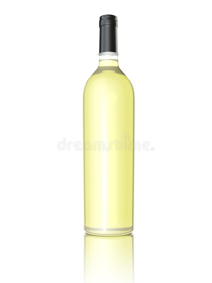 Bottiglia di vino bianco royalty illustrazione gratis