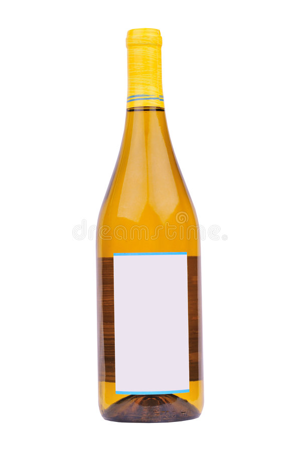 Bottiglia di vino bianco immagine stock libera da diritti