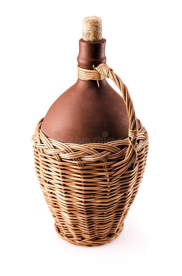 Bottiglia di vino ceramica fotografia stock