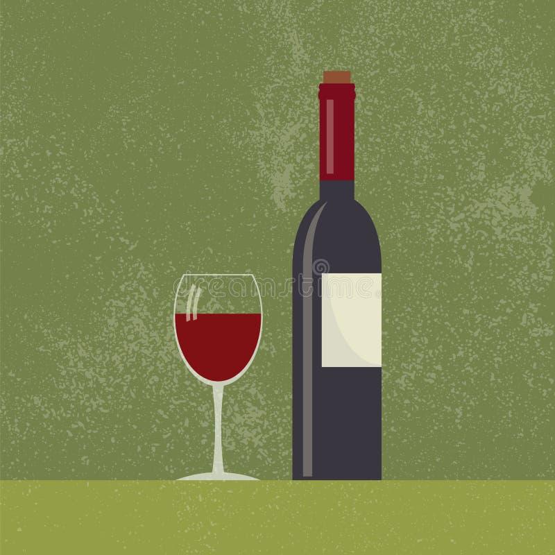 Download Bottiglia Di Vino E Vetro Di Vino Illustrazione Vettoriale - Illustrazione di creativo, barra: 56879243