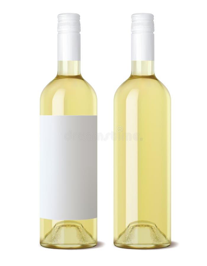 Bottiglia di vino isolata Vettore realistico illustrazione di stock