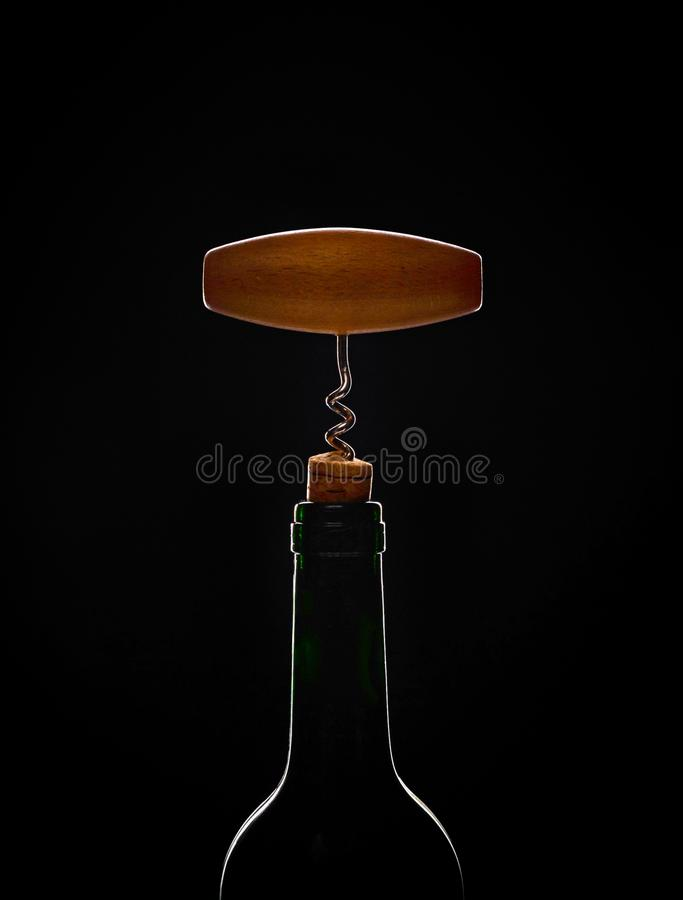 Bottiglia di vino non aperta fotografie stock
