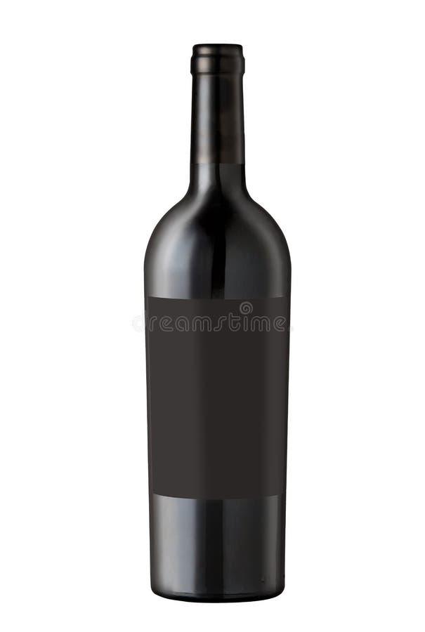 Bottiglia di vino su bianco fotografie stock libere da diritti