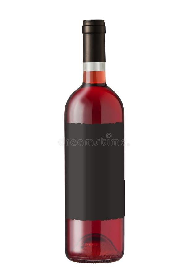 Bottiglia di vino su bianco fotografie stock