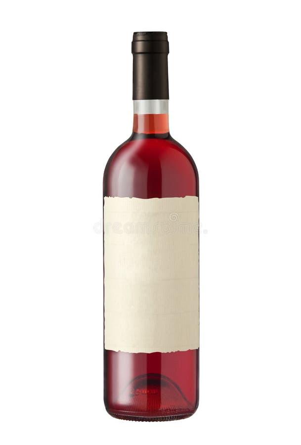 Bottiglia di vino su bianco immagini stock libere da diritti