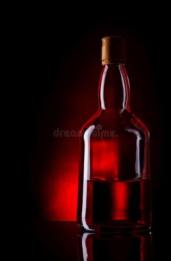 Bottiglia di whisky fotografie stock
