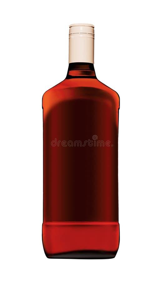 Bottiglia di whisky piena immagini stock