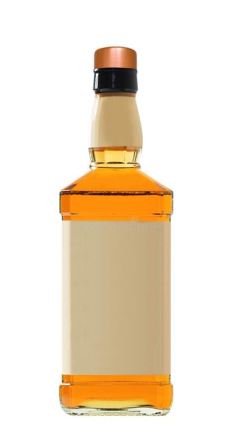 Bottiglia di whisky piena fotografie stock