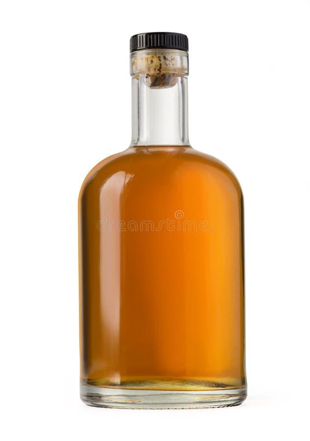 Bottiglia di whisky piena fotografia stock libera da diritti