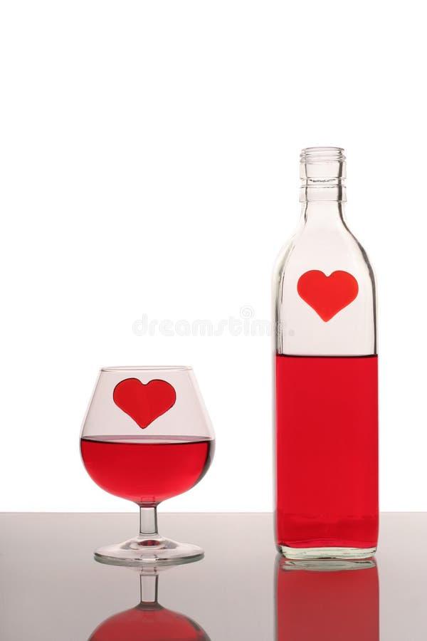 Bottiglia e vetro fotografie stock libere da diritti