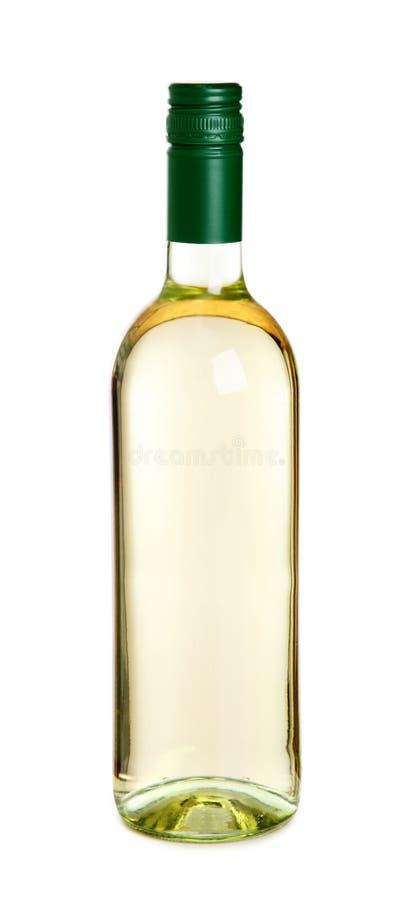 Bottiglia e vetro di vino bianco immagini stock