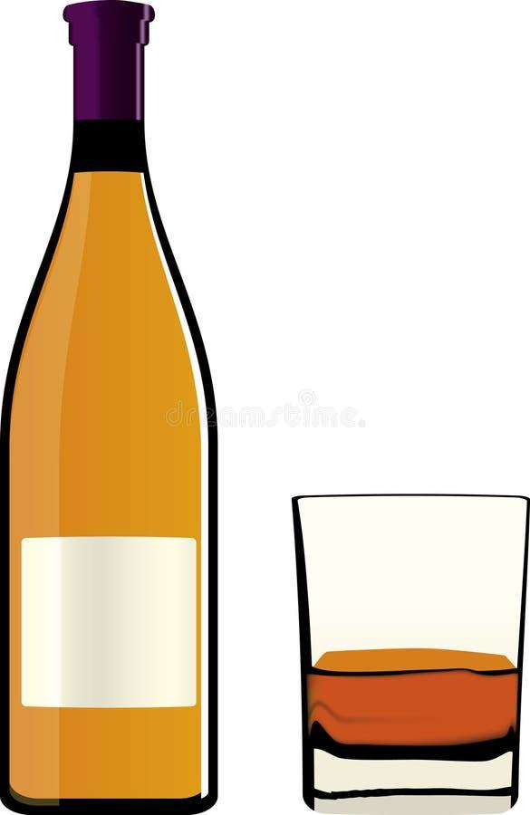 Bottiglia e vetro (vettore) royalty illustrazione gratis