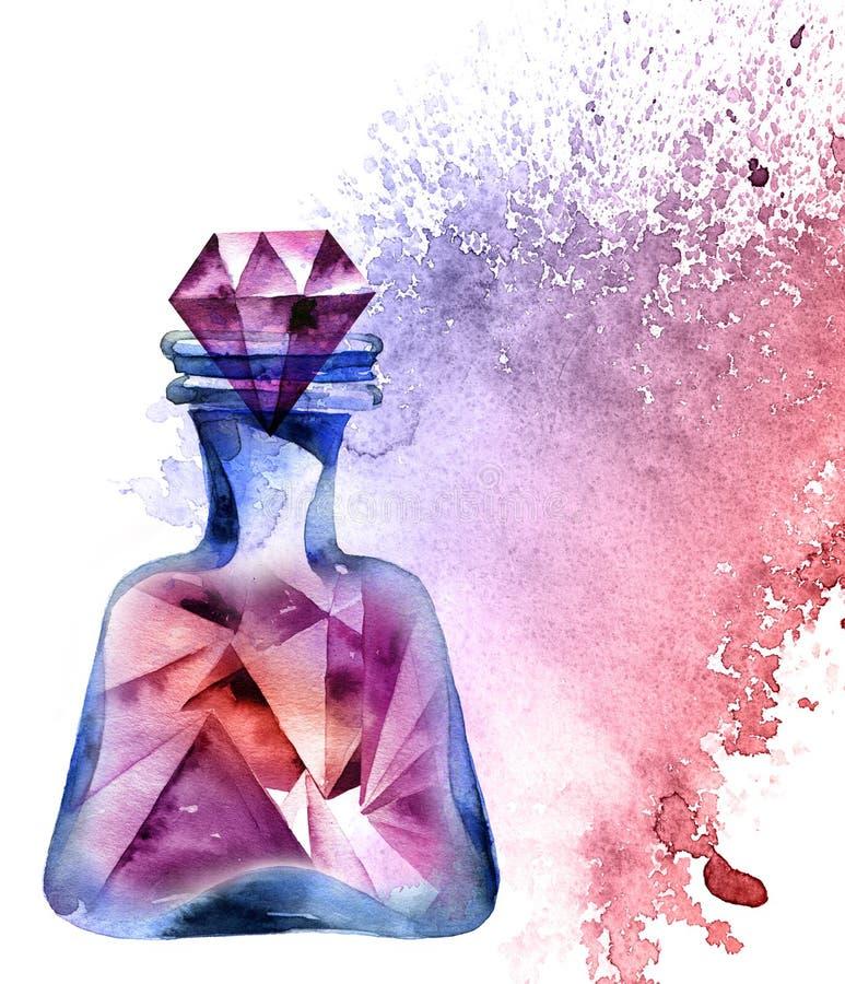 Bottiglia magica Alchemical royalty illustrazione gratis