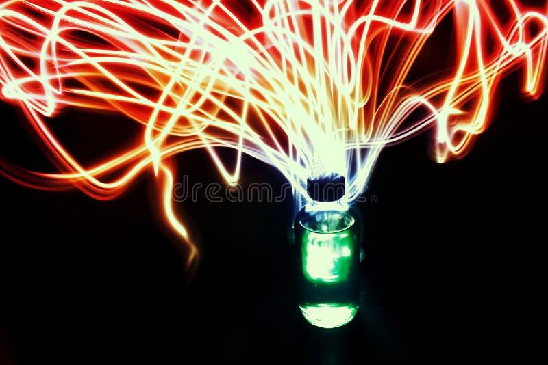 Bottiglia magica di Elixer della pozione fotografie stock libere da diritti