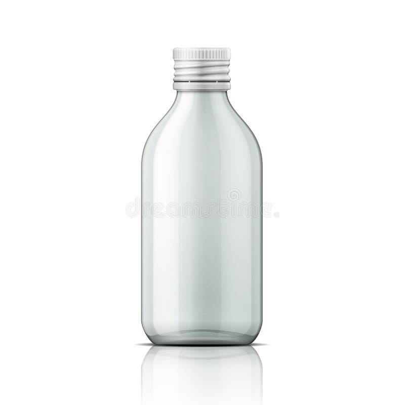 Bottiglia medica di vetro con il coperchio a vite illustrazione vettoriale
