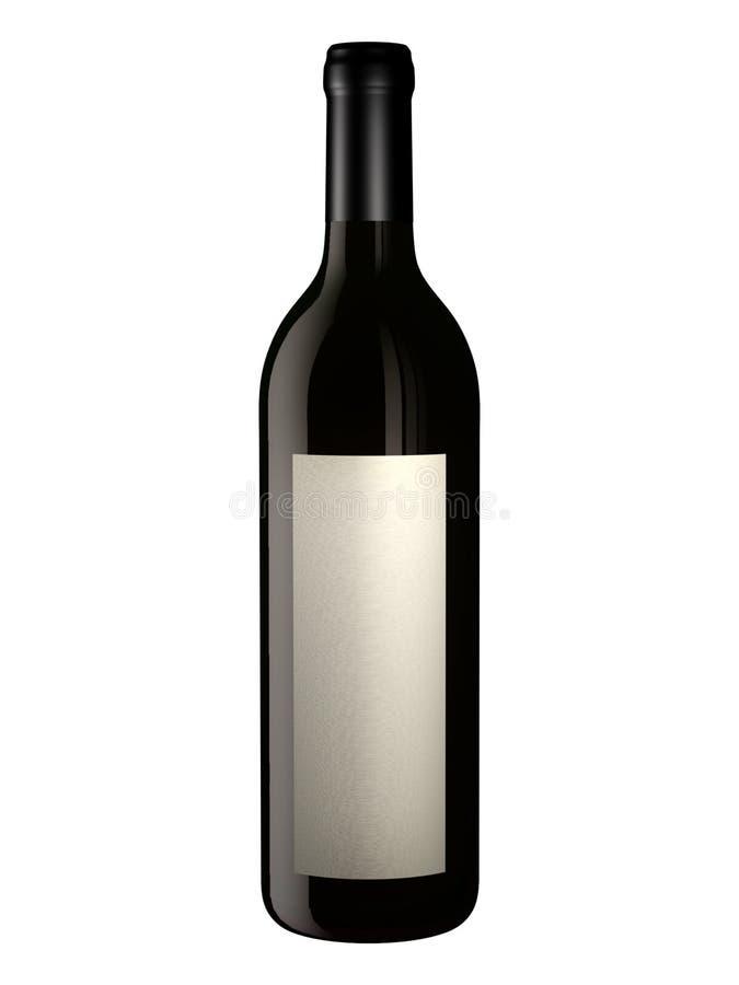 Bottiglia per il disegno di imballaggio illustrazione di stock