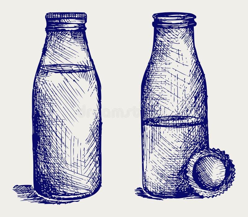 Bottiglia per il latte. Stile di Doodle illustrazione vettoriale