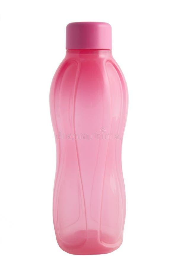 Bottiglia rosa di plastica. fotografia stock