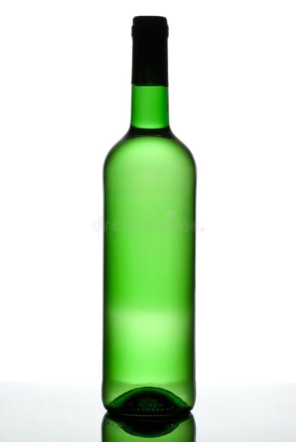 Bottiglia verde. fotografia stock