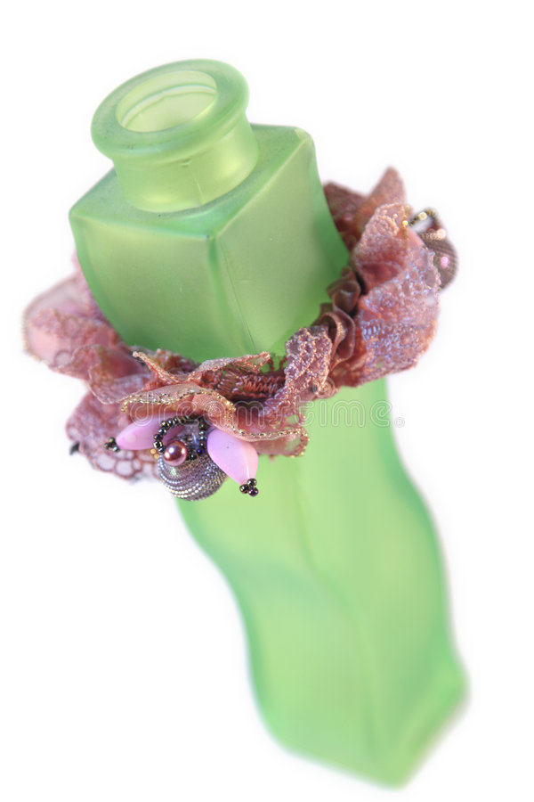 Bottiglia verde immagine stock