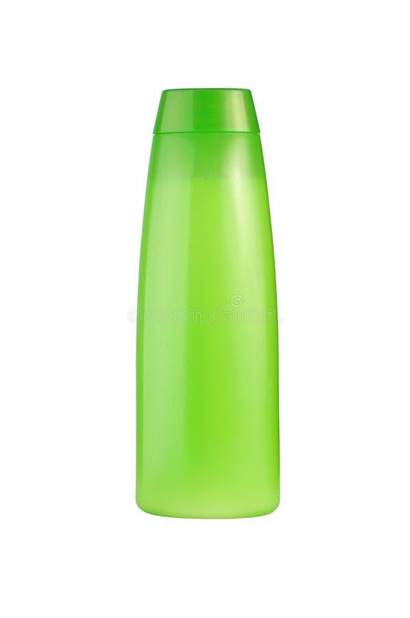 Bottiglia verde dello sciampo immagini stock libere da diritti