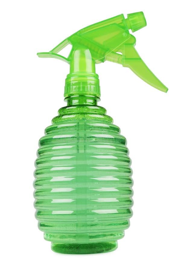 Bottiglia verde dello spruzzo fotografie stock