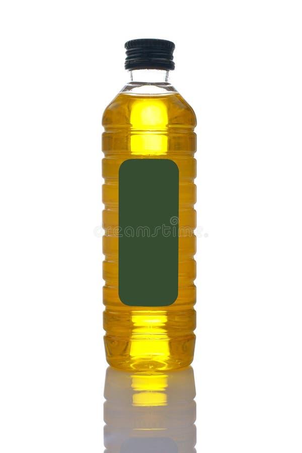 Bottiglia vergine supplementare dell'olio di oliva fotografia stock libera da diritti