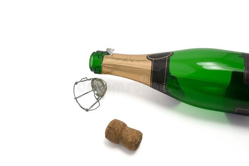 Bottiglia vuota di champagne immagine stock libera da diritti