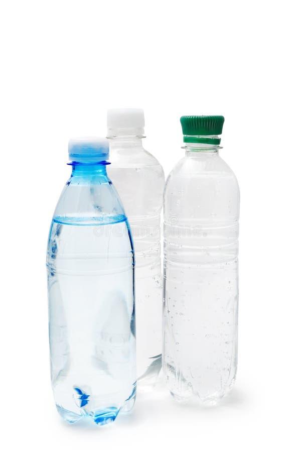 Bottiglie con acqua potabile immagine stock
