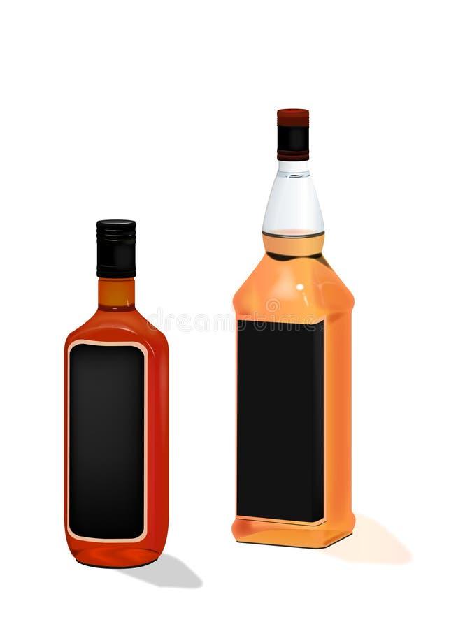 Bottiglie da birra illustrazione vettoriale