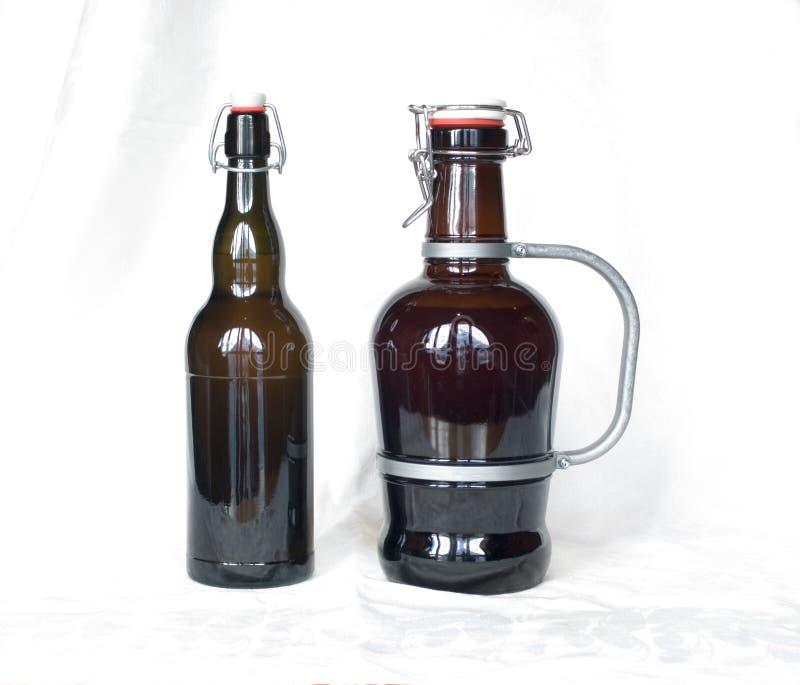Bottiglie da birra fotografia stock libera da diritti