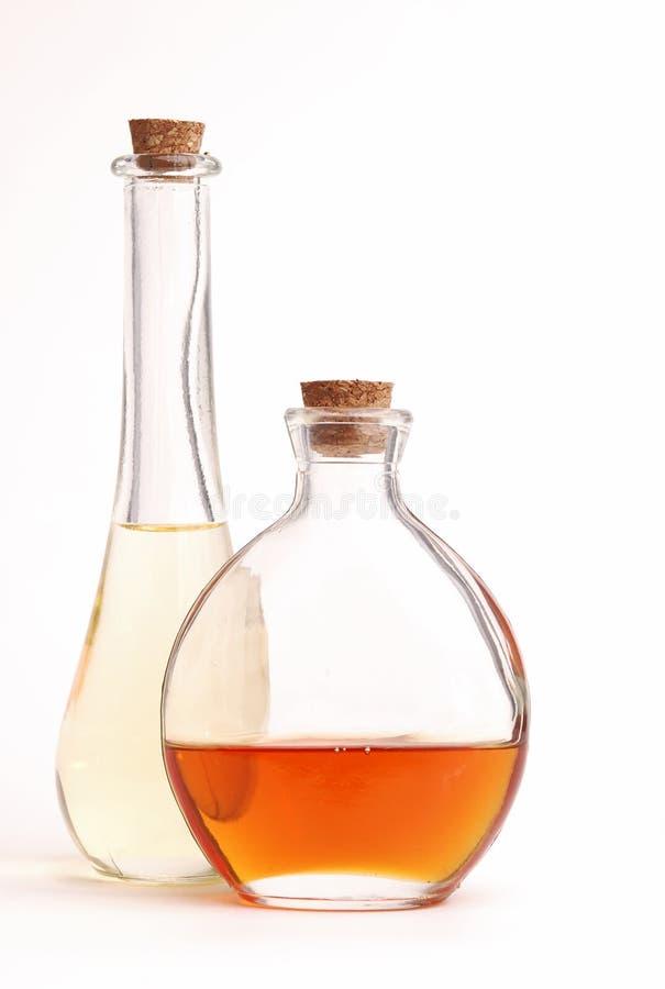 Bottiglie decorative immagine stock