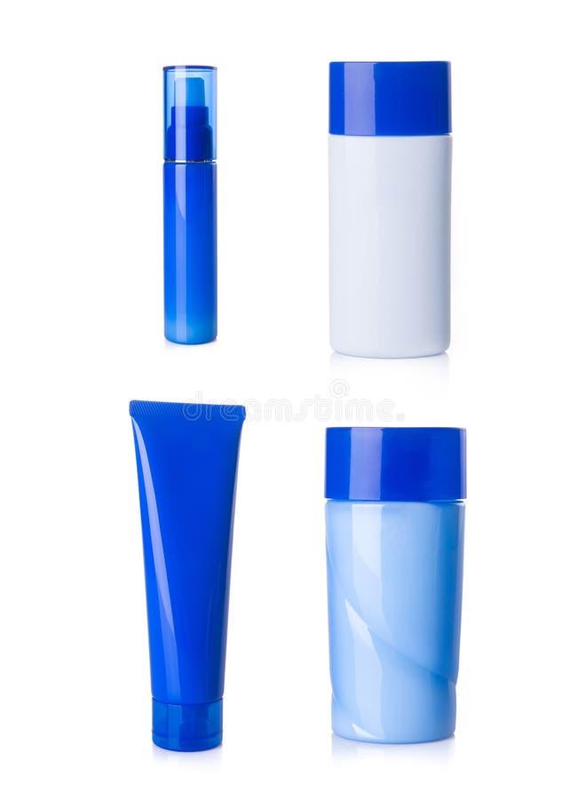 bottiglie dei cosmetici messe su un fondo illustrazione di stock